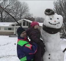 This snowman was seven feet tall!