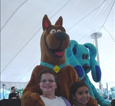 the girls meet Scooby Doo
