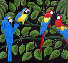 Tropical Paintings Original paintings of tropical beaches and colorful birds.