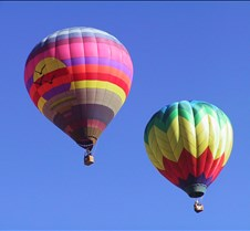 Two Balloons in flight