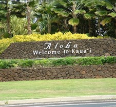 Sign at Lihue airport