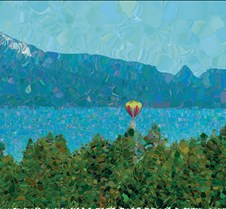 Balloon touchdown on Lake Tahoe