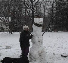 Paige and her Snow Man