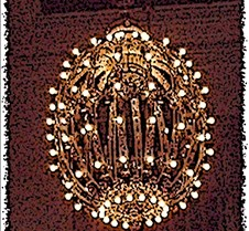 grand central chandelier poster