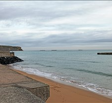 Normandy Beach Temporary Port Remains