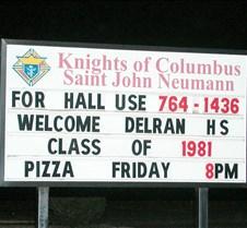 Delran High School Class of 1981 25th Reunion Delran High School Class of 1981<br>25th Reunion<br>November 25, 2006<br>Knights of Columbus<br>Delran, NJ