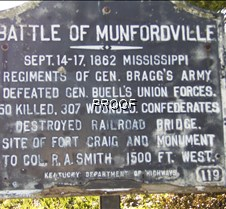 Battle of Munfordville, KY (Fort Craig)