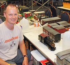 Geoff Rovndh With His Trains