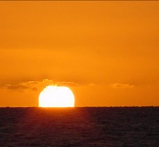 The Golden Sun over the Pacific