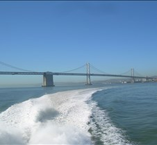 Making Wake by the Bay Bridge