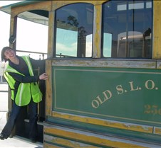 Tia on the SLO Trolley