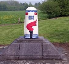 Liberty Road Marker in Bastogne, Belgium