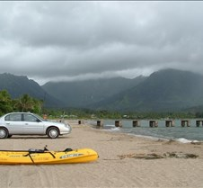 The pier at Hanalei Bay