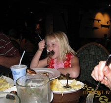 Jaxy enjoying her dinner