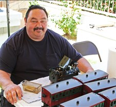 Raul Barrile With His Trains