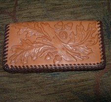 Oak leaf checkbook