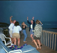 Dancing on deck