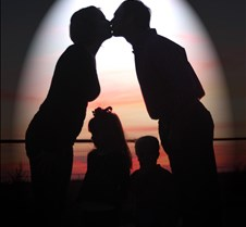Sunset Kiss - flashlight 9632