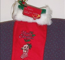 embroidered xmas stocking