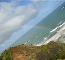 Rainbow off Black Sand Beach