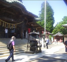 Monks praying temple