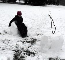 Faith in the snow chair
