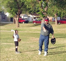 Showing Daddy How to Throw