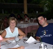 Chris ans Ruth at dinner