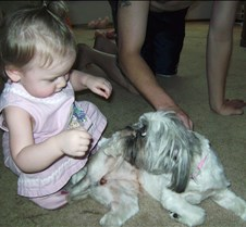 Molly with Puppy Next Door
