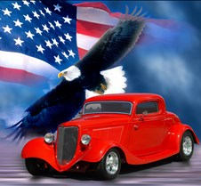 34ford - flag eagle background