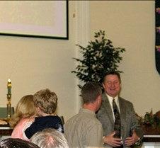 2004 11 21 Phillip, Tammy and Austyn Moffat join Lost Creek U.M.Church and Austyn is baptized, and whole family joins Lost Creek Church, Stillwater, OK. Neat deal, as it is Ann and I's 32nd Anniversary and Kaitlyn's First Month BDay.