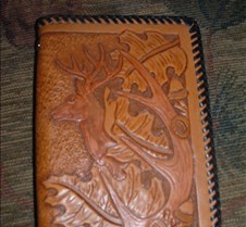 Oak leaf/ antler notebook