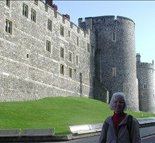 Joan outside Windsor Castle