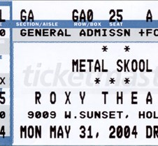 0001 Metal Skool ticket