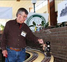 Larry Green With His Live Steam Loco