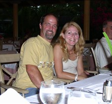 Greg and Jacqueline at dinner