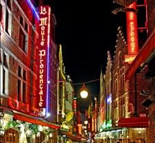 Brussels Street Restaurants at Night