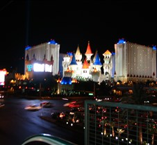 The Excalibur at night