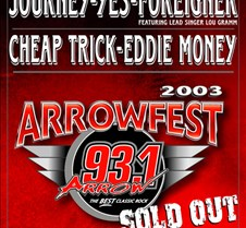 2003-10-04 Arrowfest @ Irvine Meadows What a day and what a concert lineup.  Tribute bands for Led Zeppelin and Pink Floyd.  Then Eddie Money, Cheap Trick, Foreigner with Lou Graham, Yes and Journey.  It was a fun day and since my friend Jeff was taking plenty of pictures, I only took these fe