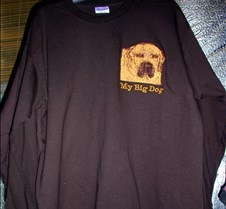 Sweat Shirt Dog Embroidered