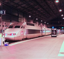High Speed TGV Train at Gare de Tours