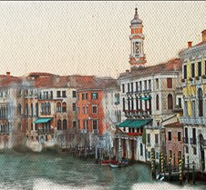 Grand Canal on canvas
