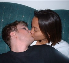 Sexy Aaron and Vanessa kissing