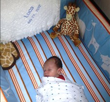 first nap in crib