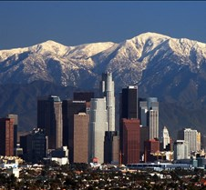 Los Angeles Skyline Mountains