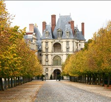 Chateau de Fontainebleau Tree Lined