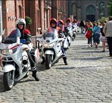 Motorcycle Police in Bruges  Belgium