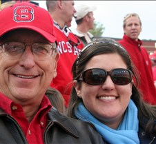NCSU vs UNC Game Football game between NCSU and UNC at Raleigh Carter Finley Stadium.  With daughter Meredith.