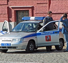 Moscow Police Cruiser in Red Square