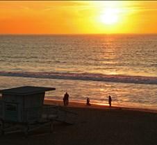 Lifeguard Stand at Sunset